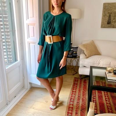 Vestido midi verde
