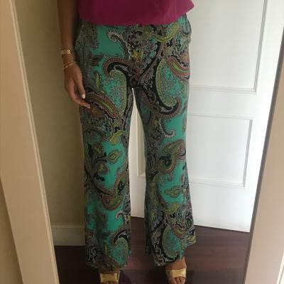 Pantalon ancho estampado Best for less