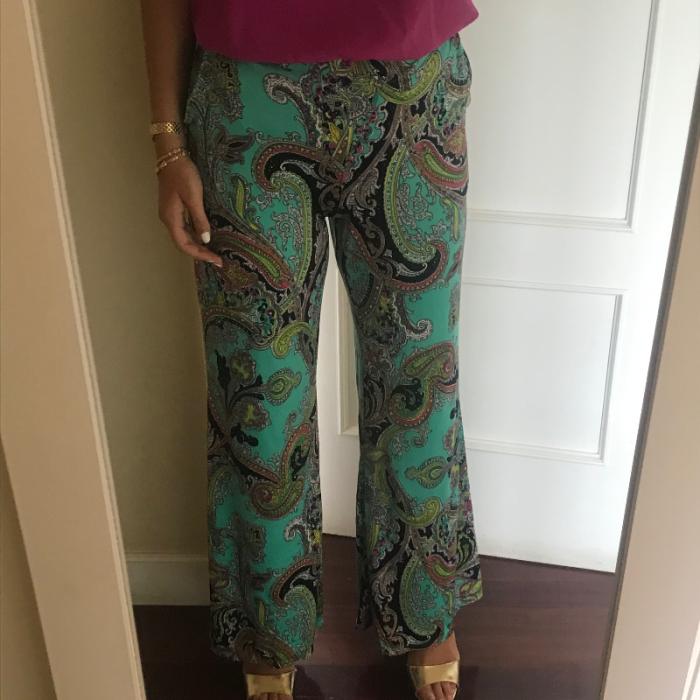 Pantalon ancho estampado