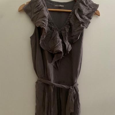 Vestido en seda gris Best for less