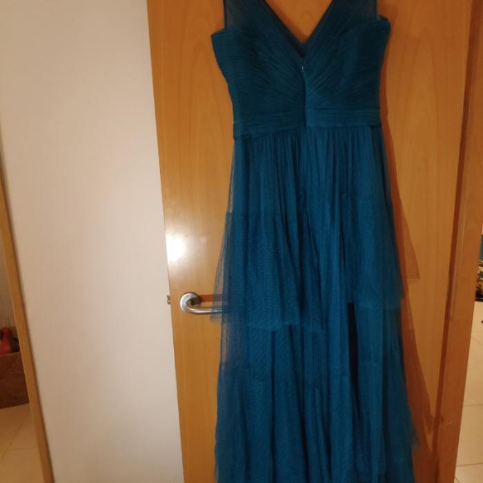 Vestido de fiesta azul tur