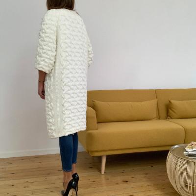 Abrigo blanco punto Best for less