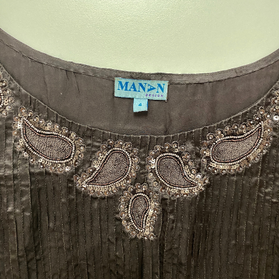 Vestido marrón Manan