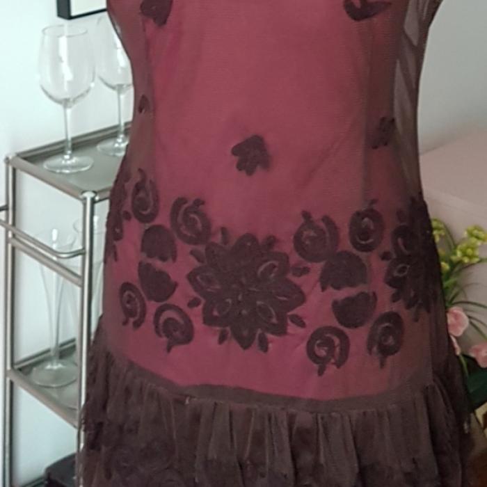 Vestido encaje bordado