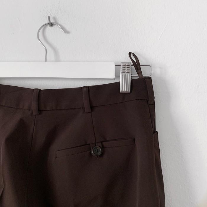 Pantalón traje marrón