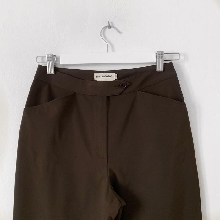 Pantalón marrón tafetán