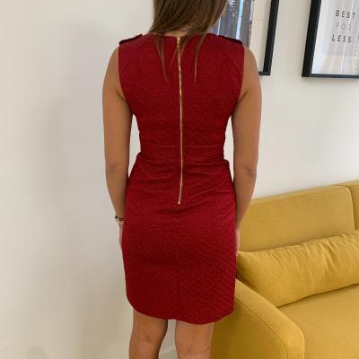 Vestido rojo relieve Best for less