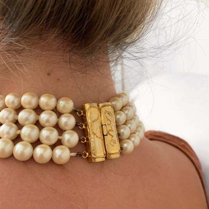 Choker perlas