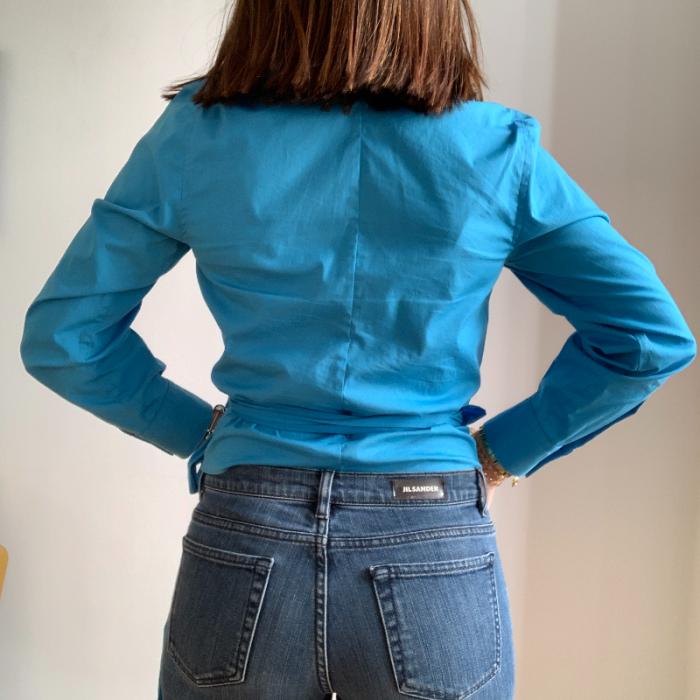 Blusa azul DKNY