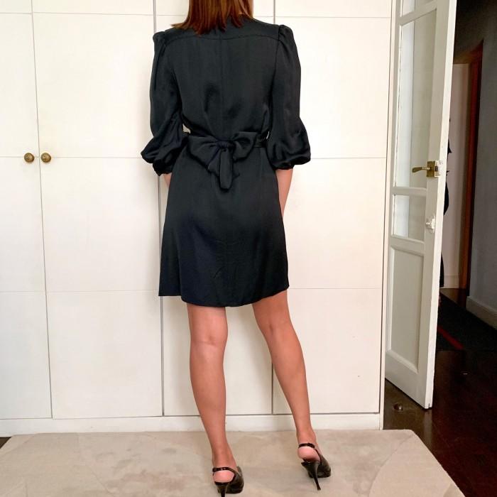 Vestido plisado central