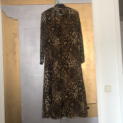 Vestido largo leopardo Best for less