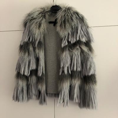 Abrigo gris de pelo