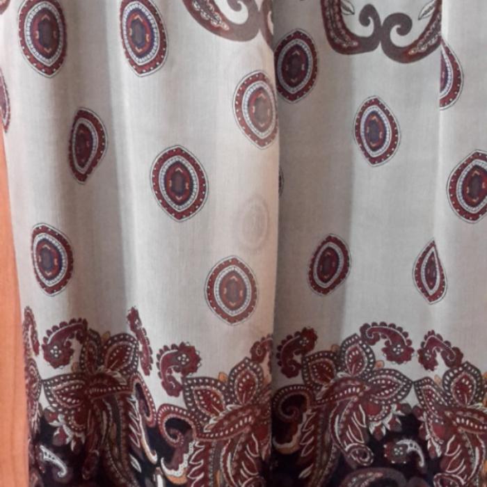 Vestido seda estampada