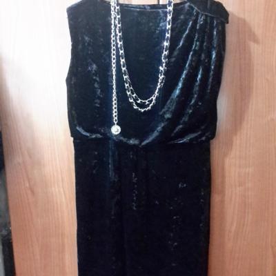Vestido terciopelo negro
