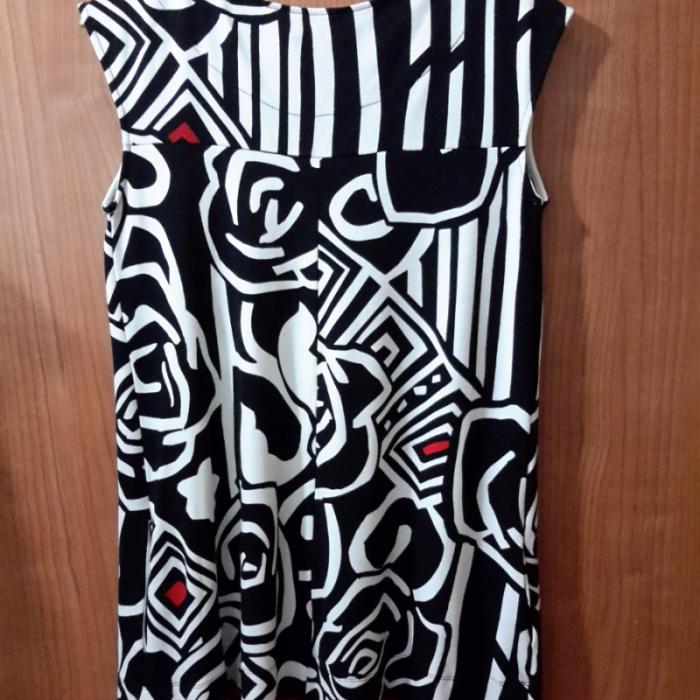Mini vestido punto retro