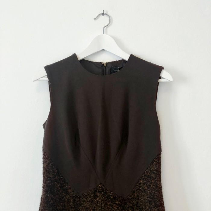 Vestido tweed marrón