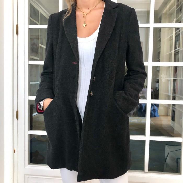 Abrigo lana gris