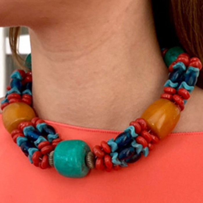 Collar piedras multicolor