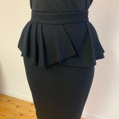 Falda de lana negra Best for less