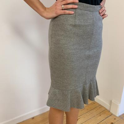 Falda de lana gris Best for less
