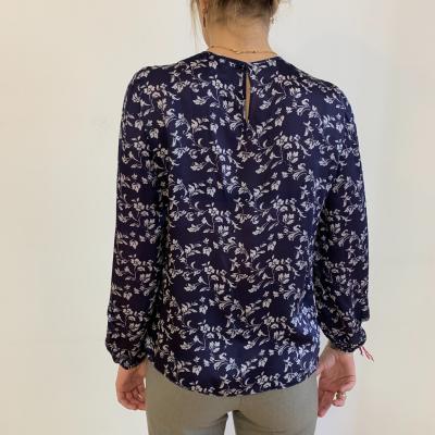 Blusa azul estampada Best for less