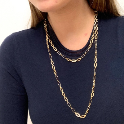 Collar fino dorado Best for less