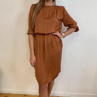Vestido corto color teja Best for less