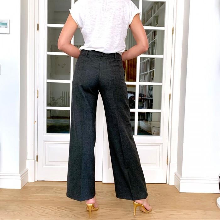 Pantalón gris en lana