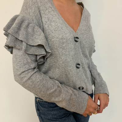 Jersey gris volantes Best for less