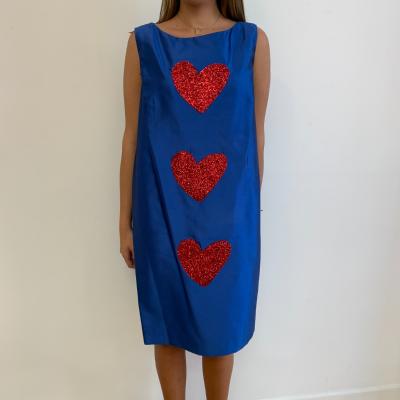Vestido Azul de Corazones Best for less