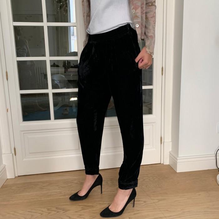 Pantalón ancho negro