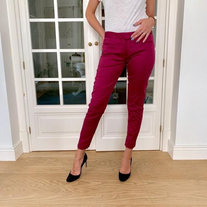 Pantalón pitillo rosa