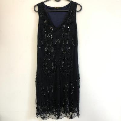 Vestido negro pedrería Best for less