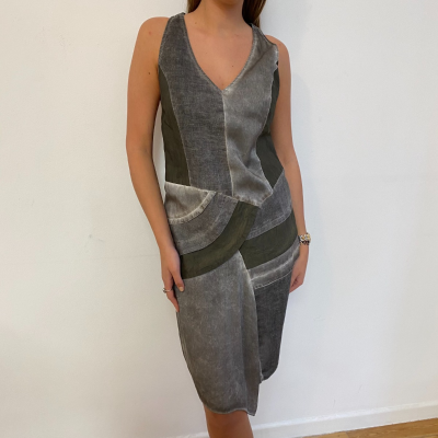 Vestido gris midi Best for less