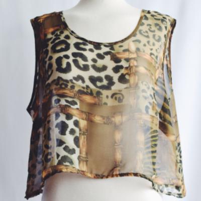 CropTop Vintage Leopardo