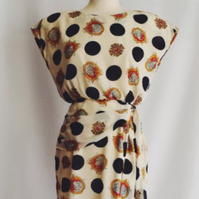 Vestido Vintage Topos Best for less