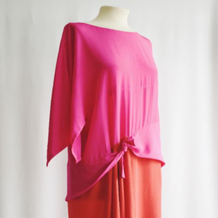 Vestido Vintage Seda