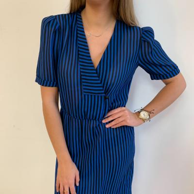 Vestido de rayas azul Best for less