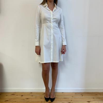 Vestido camisero blanco Best for less