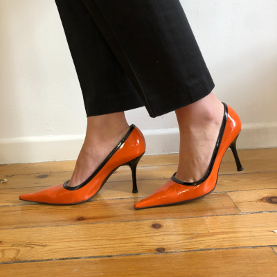 Zapatos salón naranjas Best for less