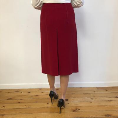 Falda roja con pliegue Best for less