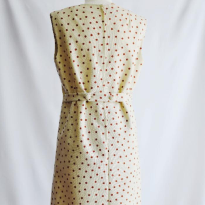 Vestido Vintage Beige Topo