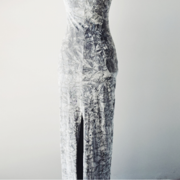 Vestido Vintage Plata Velv