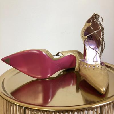 Zapatos dorados abiertos Best for less