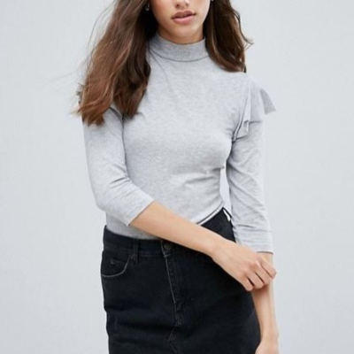PIECES Jersey gris Best for less