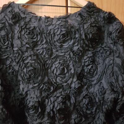 Bolero negro flores 3D
