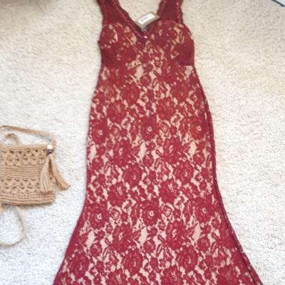 Vestido largo encaje Best for less