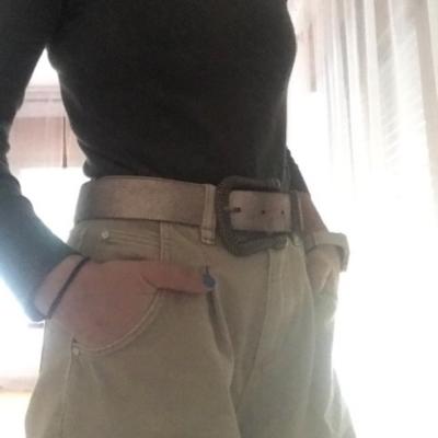 Cinturón piel cobre Best for less