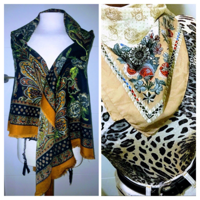 LOTE 2 PAÑUELOS VINTAGE Best for less