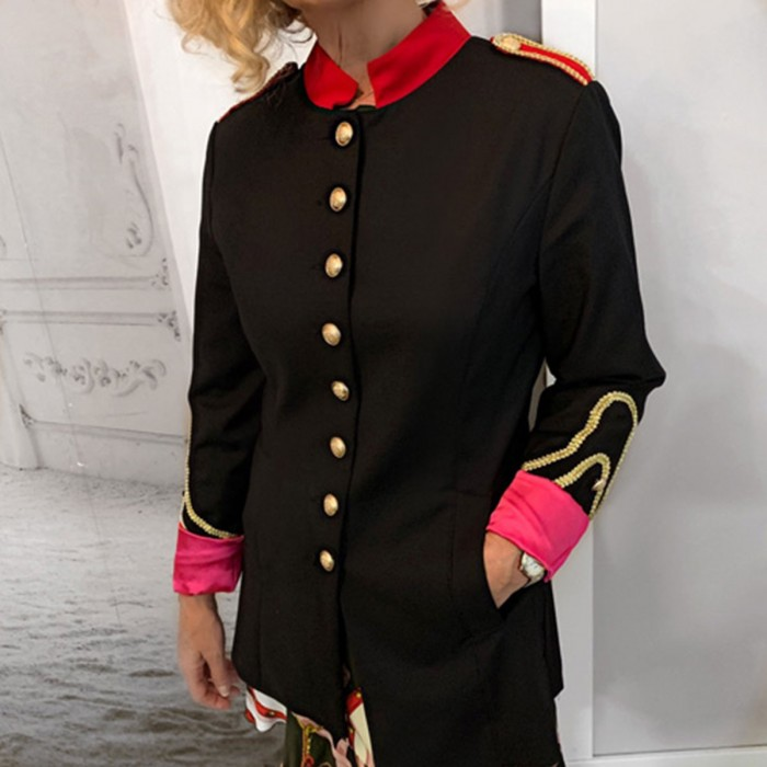 Chaqueta militar negro